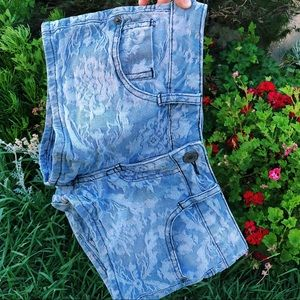 Light blue floral shorts